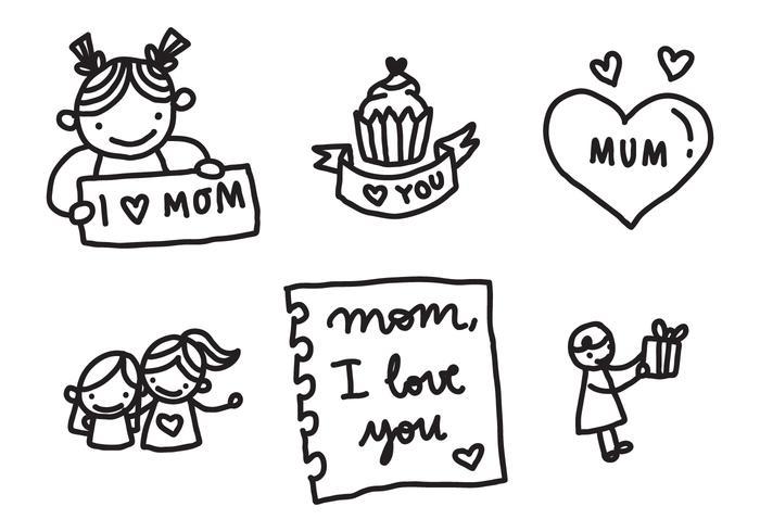 Love My Mom Badges