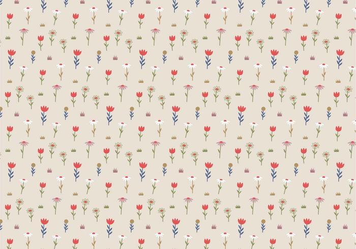 Pastel Flowers Pattern Background