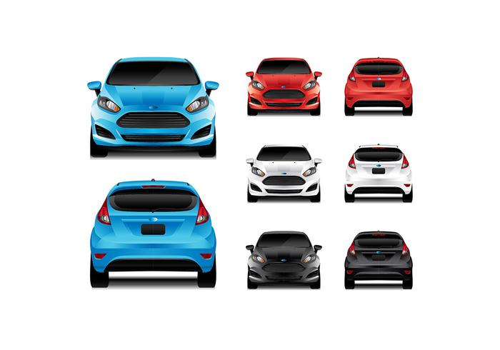 Ford Fiesta Front Rear View Vector Download Free Vector Art Stock