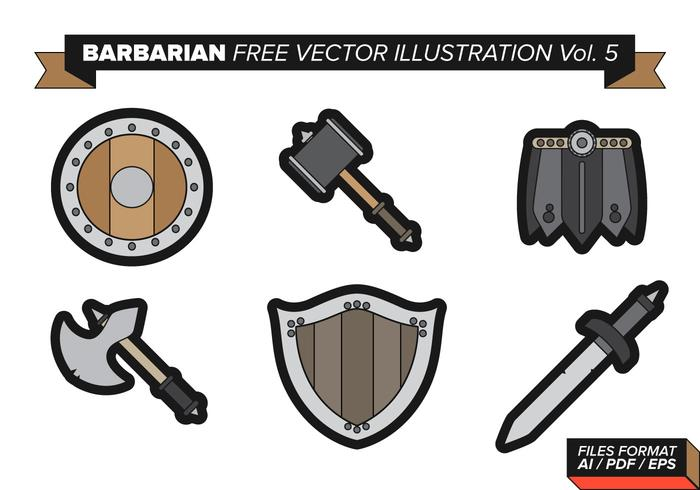 Barbarisk fri vektor pack vol. 5
