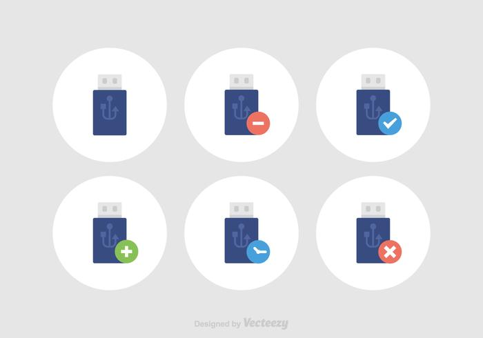 Free Pen Drive Vector Icons