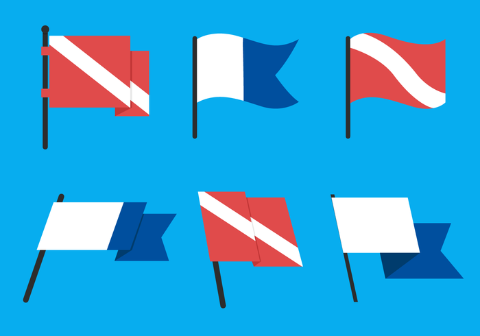 Dive Flag Vector Pack