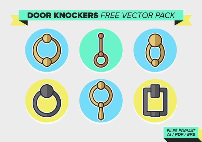 Puerta Knockers Pack Vector Libre