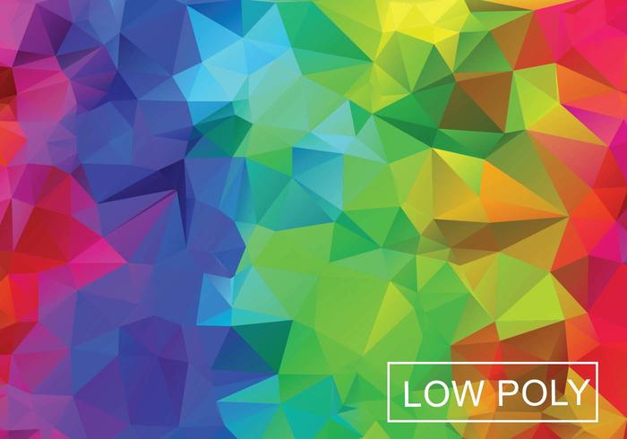 Rainbow Geometric Low Poly Vector Background
