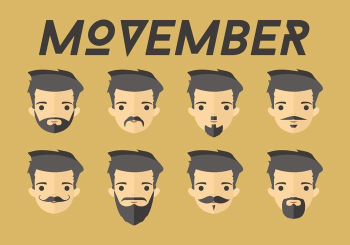 Movember dudes vector