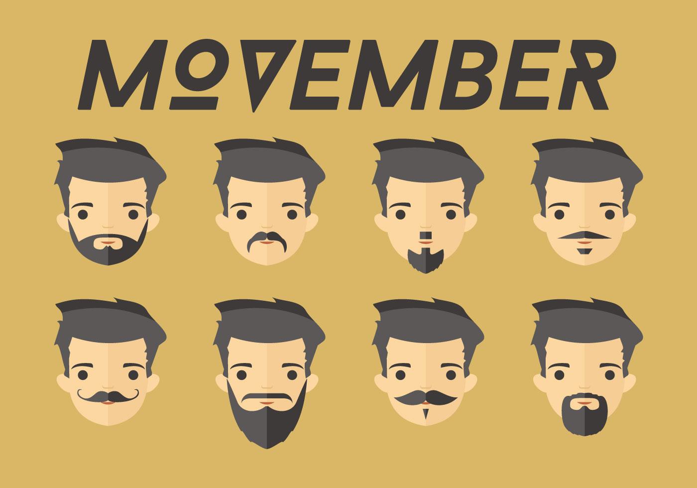 Movember Dudes Vector Download Free Vector Art Stock