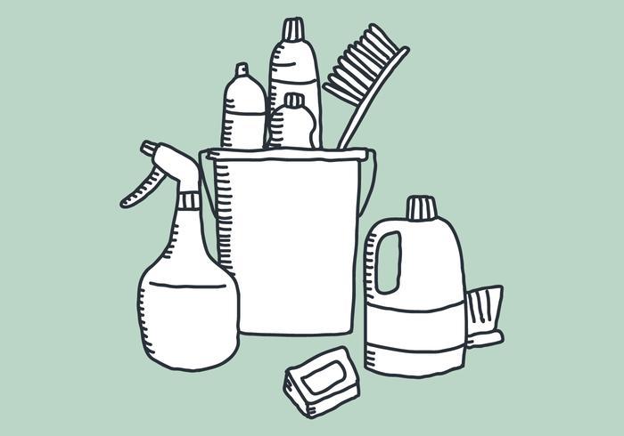 Éléments vectoriels pour le nettoyage