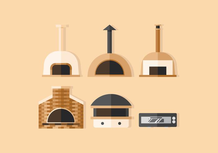 Horno de pizza vectorial