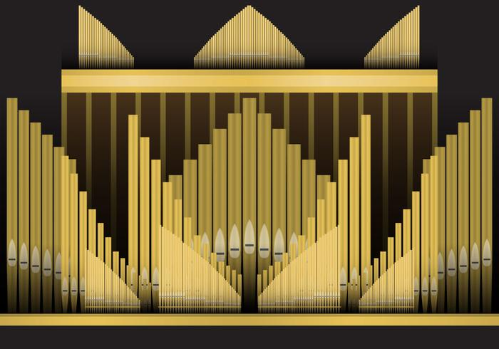 Pijp orgel vector