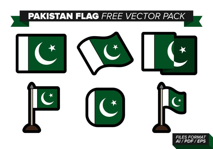 Pakistan Flag Free Vector Pack