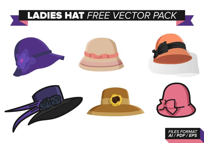 Sombrero de las señoras paquete libre del vector