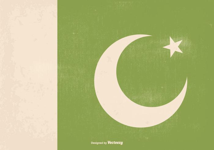 Awesome Retro Old Pakistan Flag