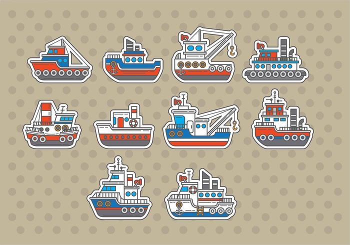 Tugboat Vectors