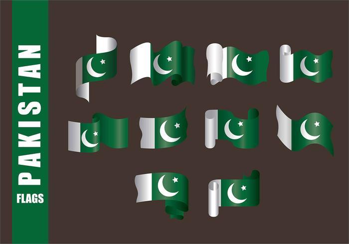 Vecteurs de drapeau du Pakistan