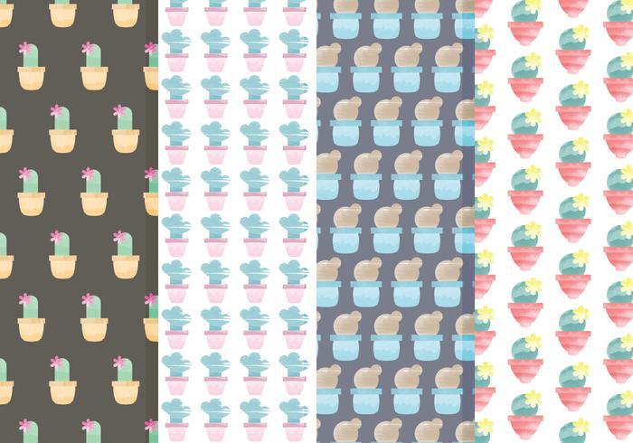 Conjunto de patrones de vectores de cactus
