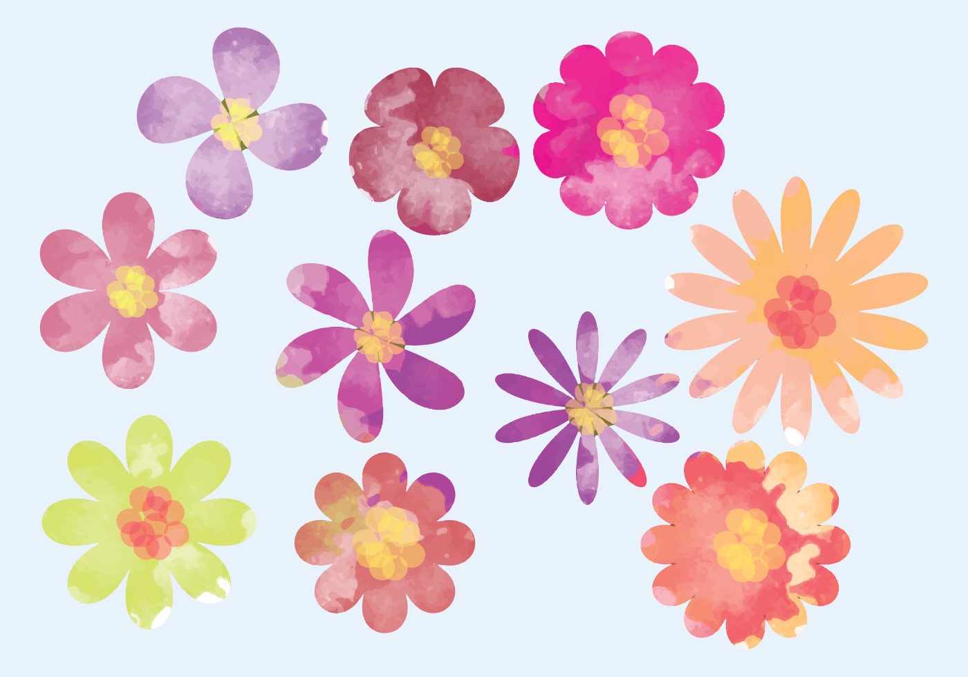 watercolor flower clipart free - photo #48