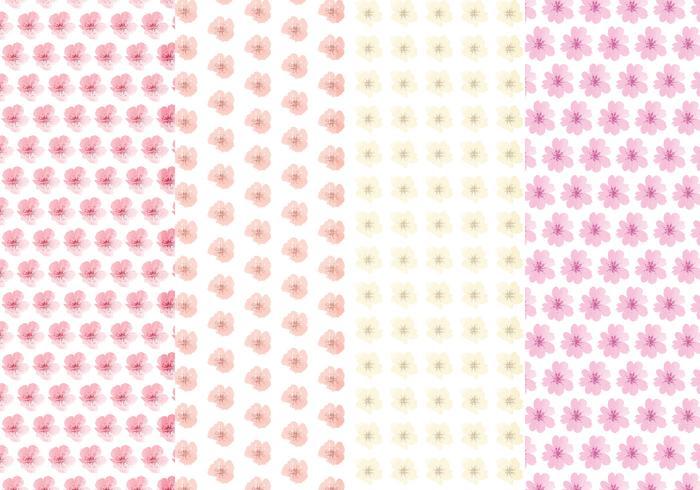 Cute Flower Vector Pattern Set