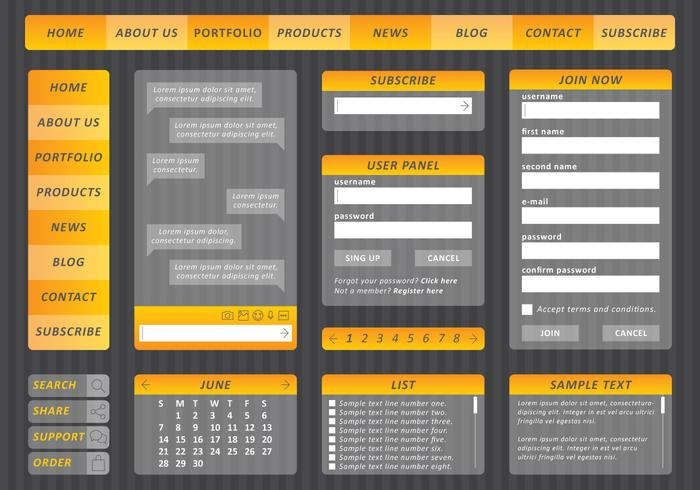 Kit Web Amarillo