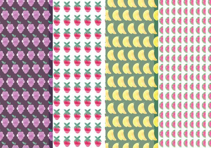 Conjunto de patrones de frutas vectoriales