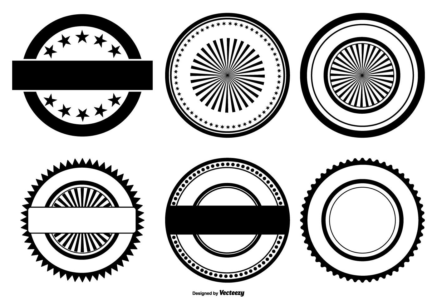 Vector Badge Shapes Download Free Vector Art Stock | Fit Slim