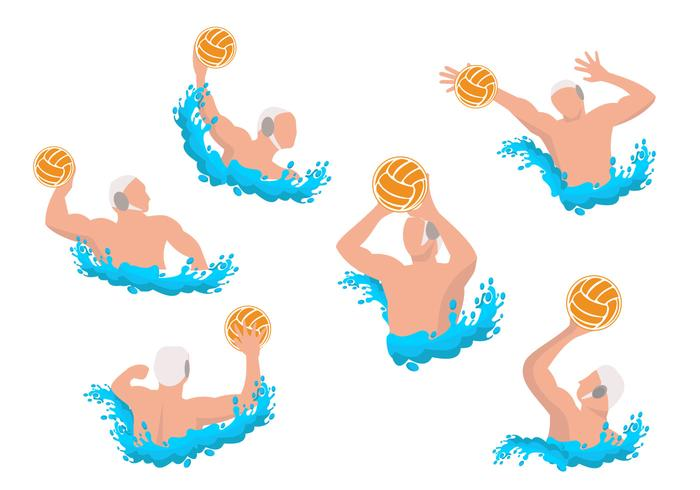 Water Polo Athletes Vector