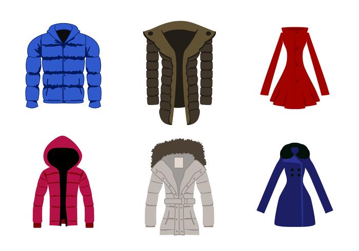 Gratis Winter Coat Vector