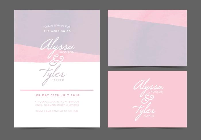 Feminine Vector Wedding Invite