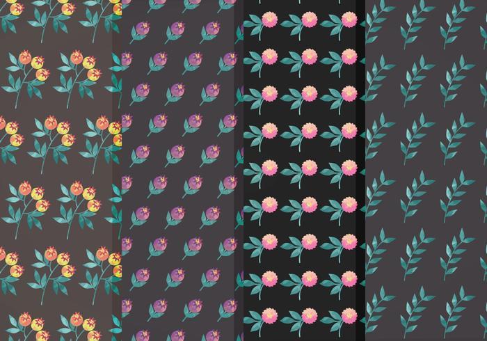 Ensemble Moody Flower Vector Pattern