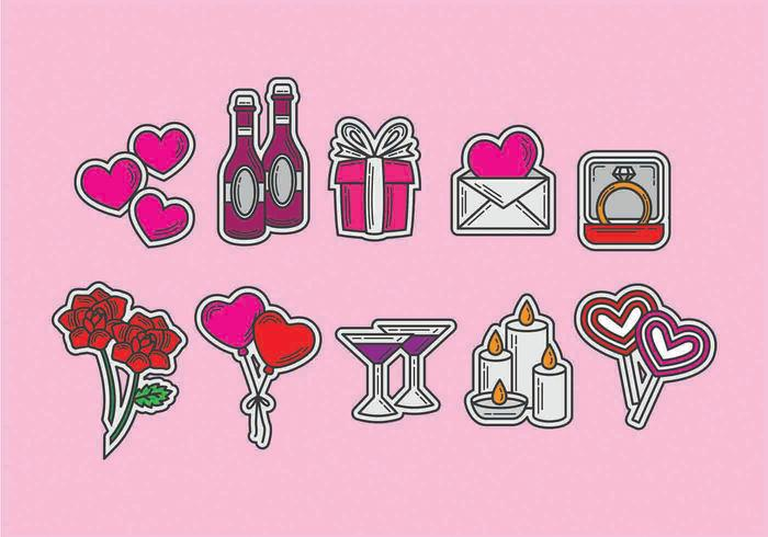 Anniversary Vector Icons