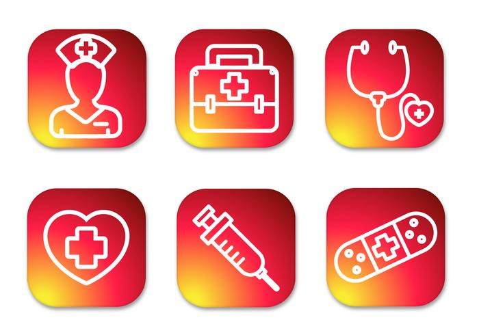 Nurse Gradient Icons
