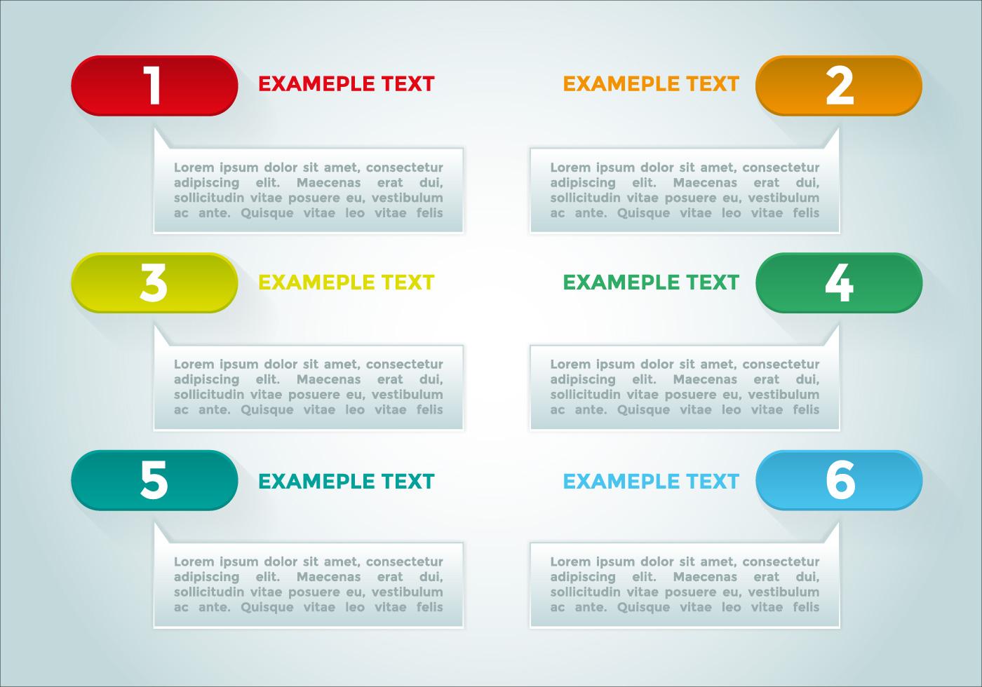 bullet points infographics elements vector