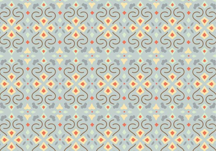 Floral Mosaic Pattern Background