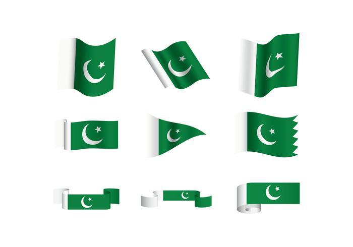 Vectores libres de la bandera de Paquistán