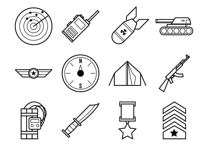 Free World War Icon Vector Pack