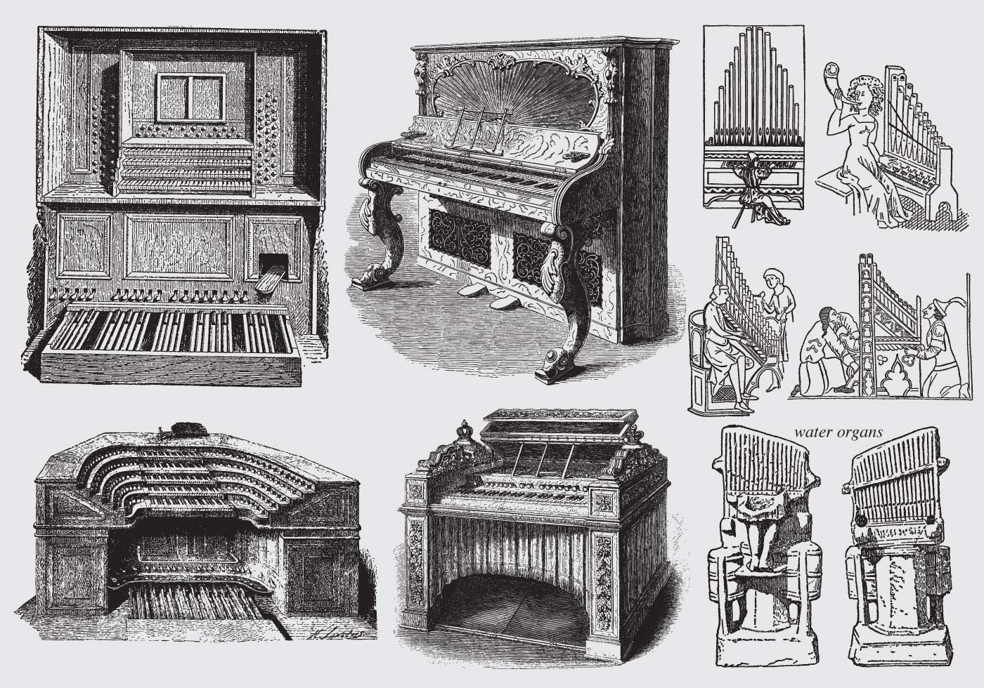early history of the pipe organ Of organ builder company history   early examples of lima pipe organ company's output consisted of instruments assembled from components purchased from.