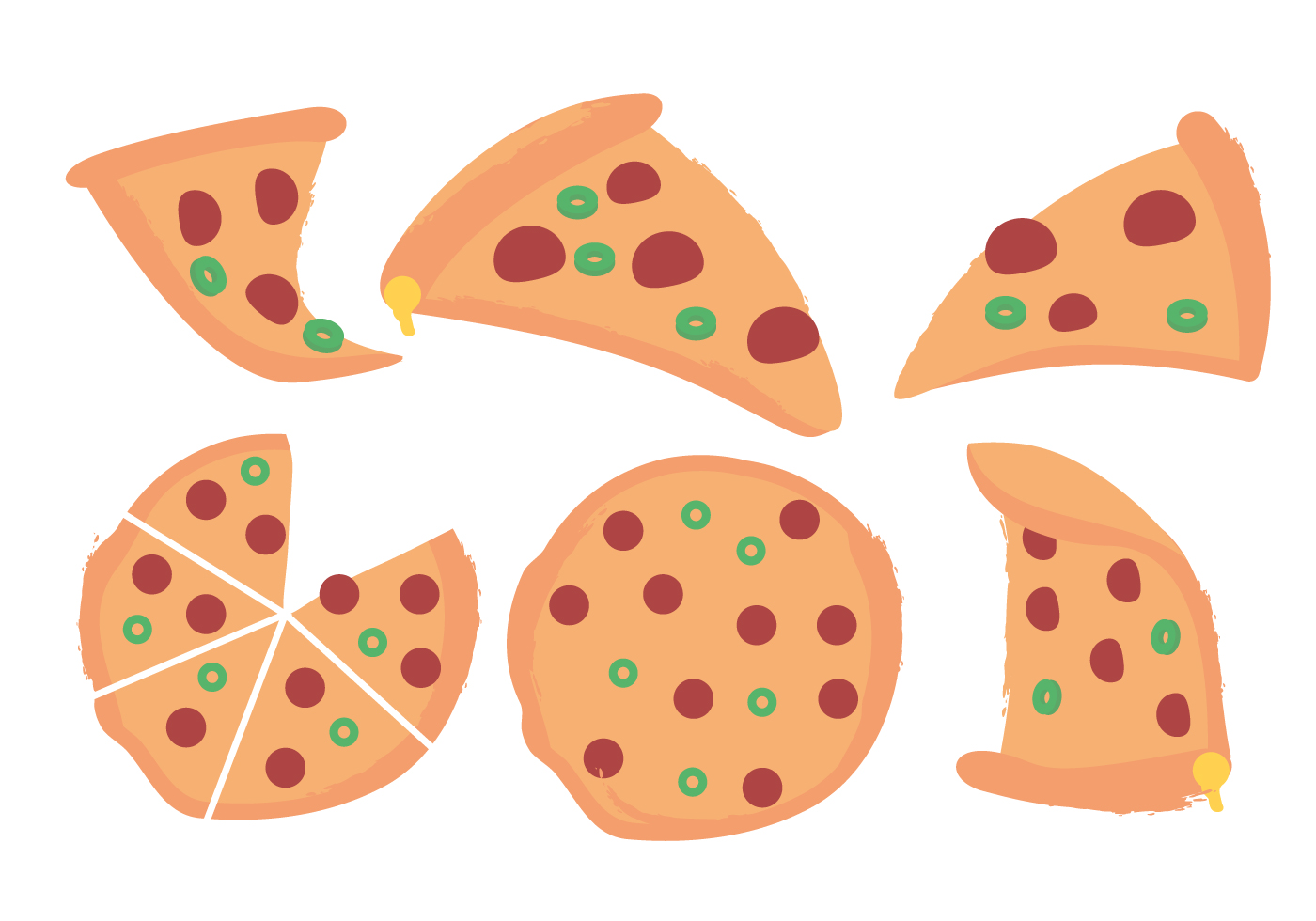 Vector Pizza - Download Free Vector Art, Stock Graphics ...