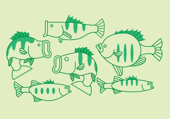 Peixe baixo vetor