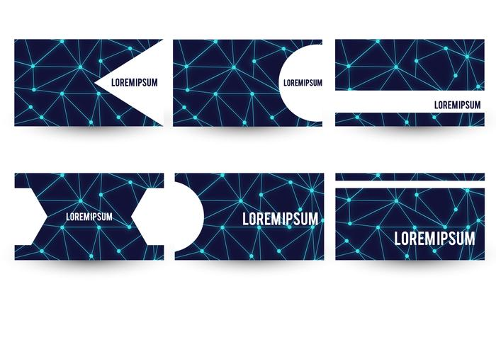 Set modello di biglietto da visita tema a tema neurone