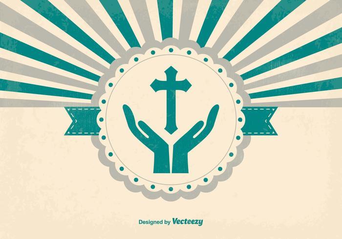 Fundo retro de estilo religioso vetor