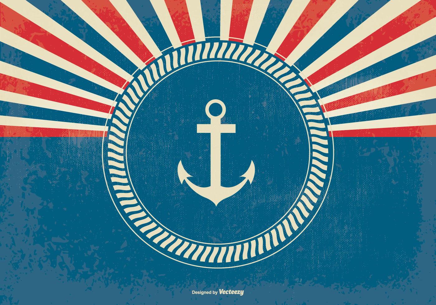 nautical style retro sunburst background download free nautical border clip art free Vintage Nautical Clip Art