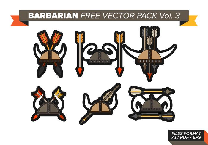 Bárbaro Libre Vector Pack Vol. 3
