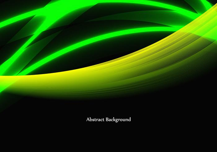 Free Vector Shiny Green Wave background