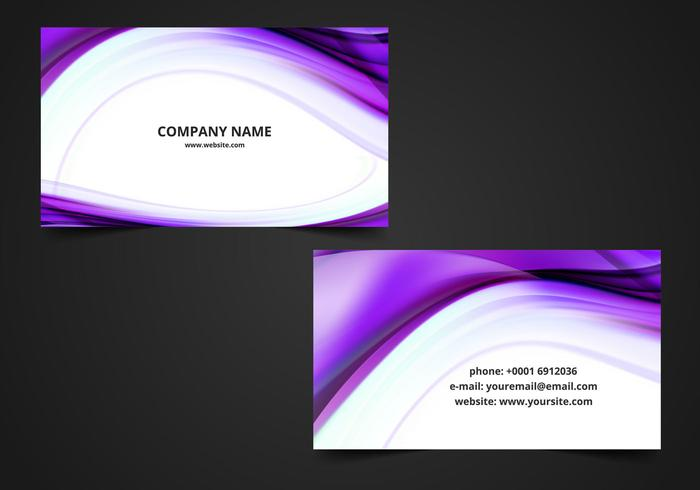 Free Vector Wavy Visiting Card Background - Download Free Vector
