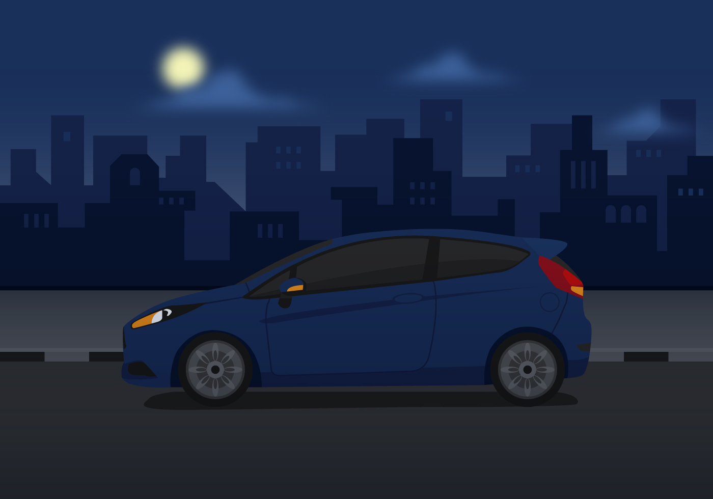 Vector Ford Fiesta Blue Download Free Vector Art Stock