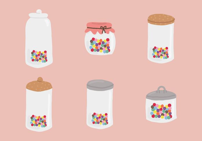 Jar Smarties Vectors