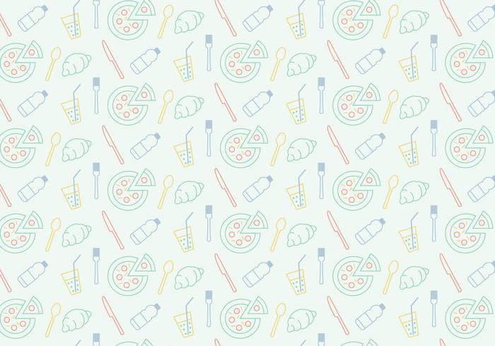 Food Icon Pattern