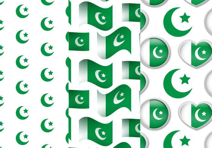 Pakistan Flag Pattern Set