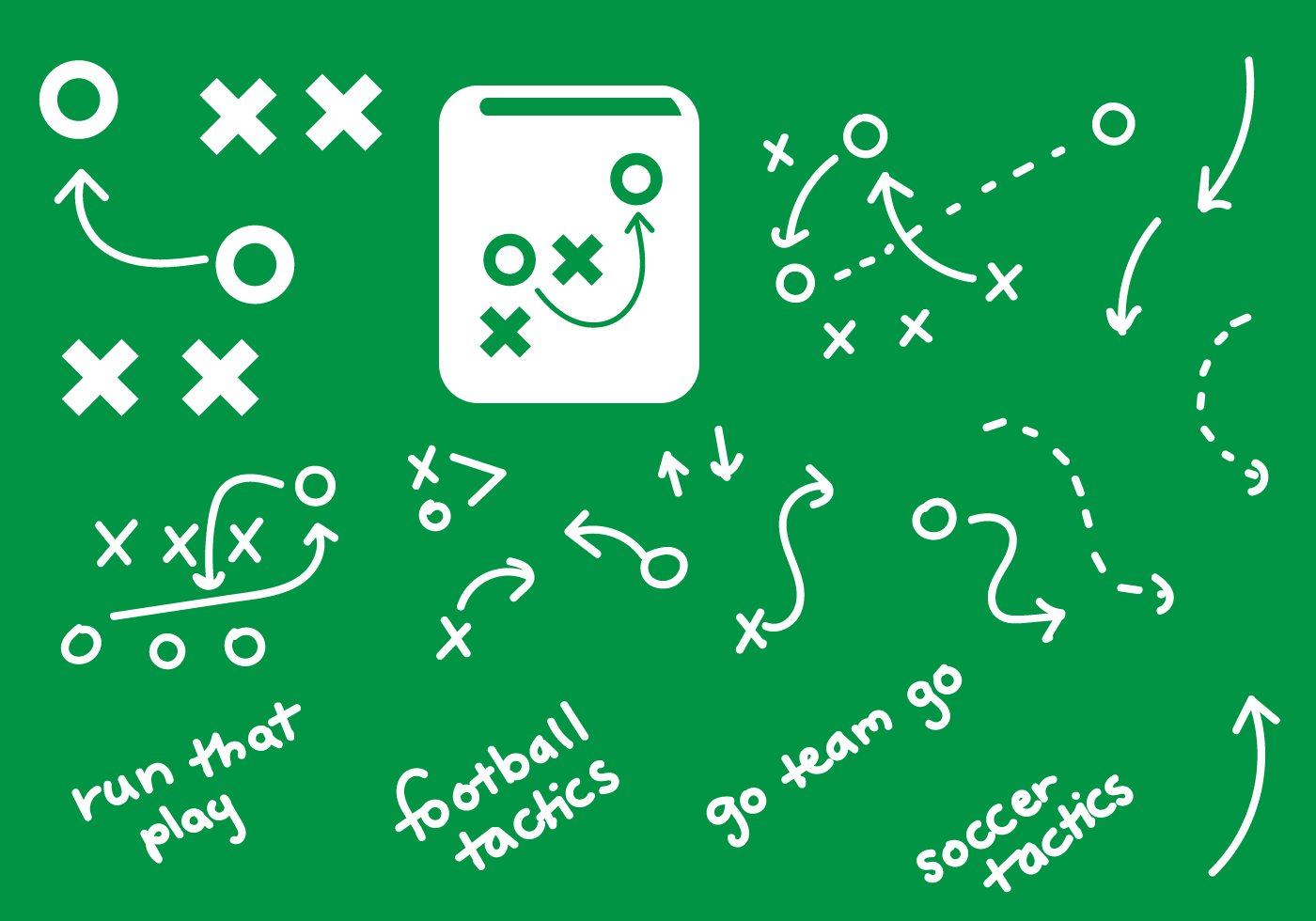 playbook graphics handdrawn plays