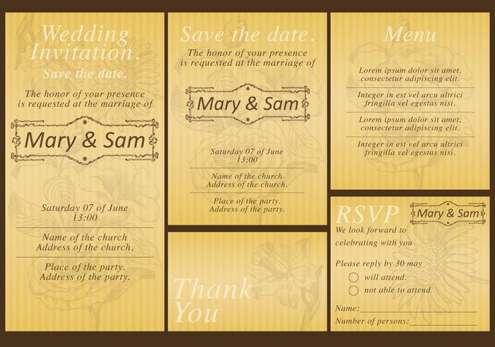 Gold Wedding Templates
