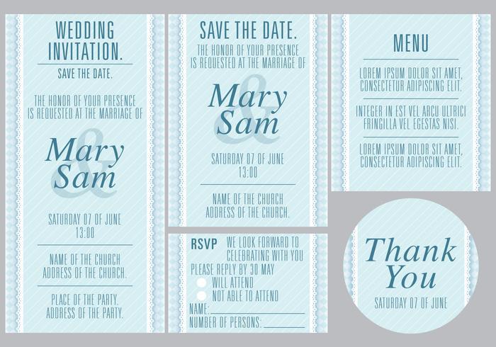 Plantillas de bodas azules